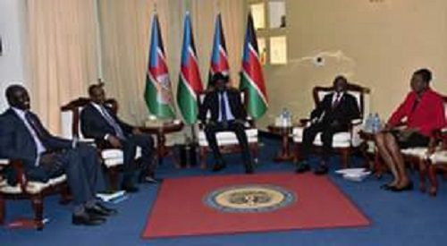President Kiir in a meeting with Awut Deng (File Photo)