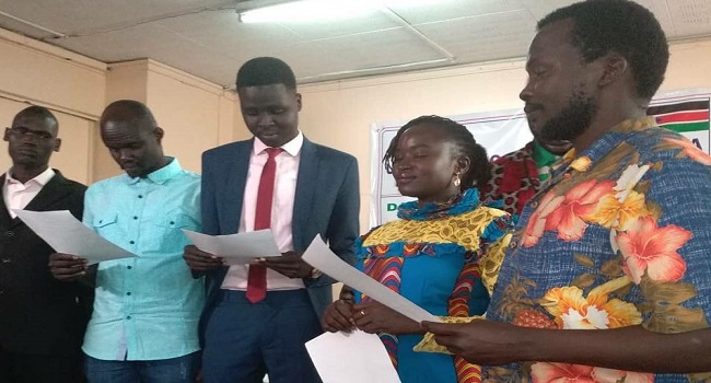 Members of the Unity State Community's new leadership taking oath of office (File photo)