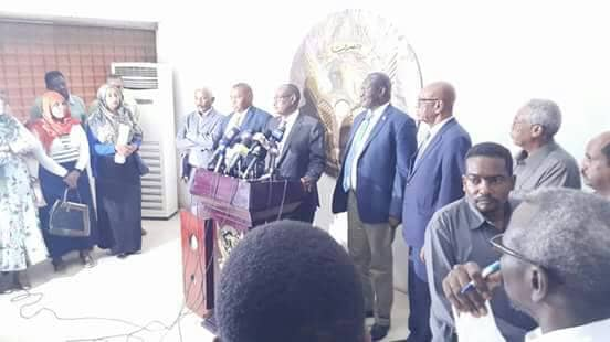 Dr. Riek Machar Teny, former Vice President and leader of the armed opposition, holds a press conference on his arrival in Khartoum, Sudan, June 24th, 2018 (Photo credit: file/supplied/Nyamilepedia)