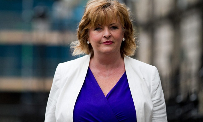 25/6/2016. Sunday Post. Andrew Cawley. Pics of First Minister, Nicola Sturgeon, making a statement outside Bute House, after meeting with her Cabinet, to discuss Scotland's position after the EU Referendum result. Pic shows Fiona Hyslop arriving for the meeting. Location: Edinburgh.