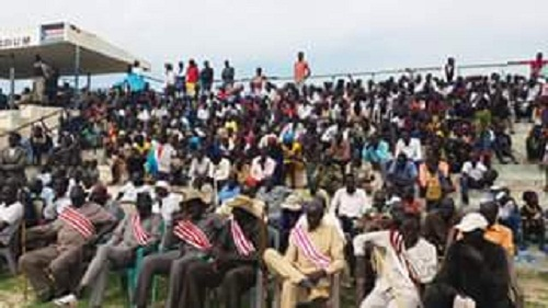Unity State citizens attending independence celebrations at Bentiu Stadium ( File Photo)