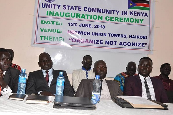 Unity States Community in Kenyan in a meeting (File photo)