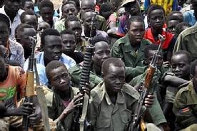 Child Soldiers in an unknown location in South Sudan (File photo)