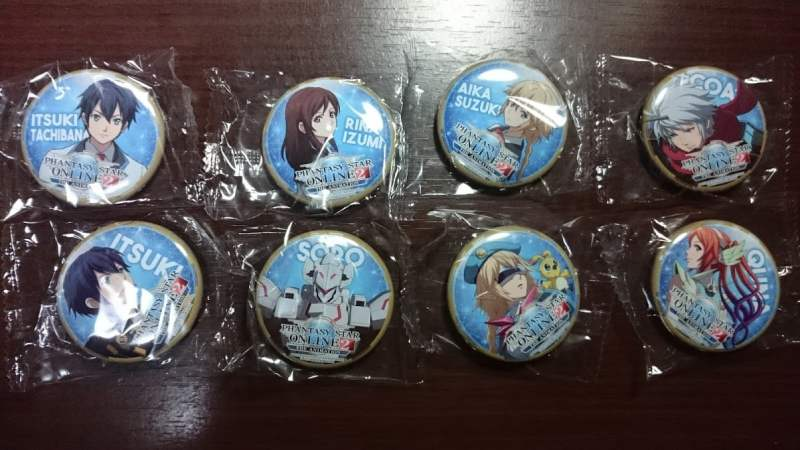 【PSO2】缶バッジ8種類フルコンプ!