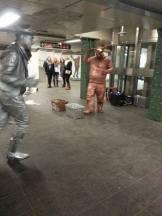 A fun and metallic dancing duo!