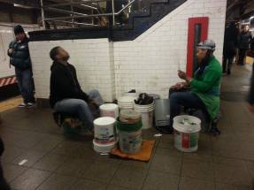Percussionists at Union Square.
