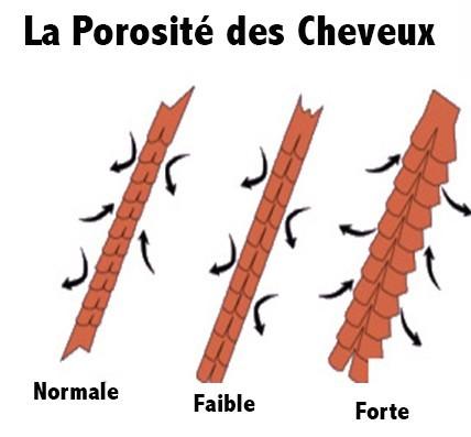 les cuticules des cheveux faiblement poreux sont compactes et fermés