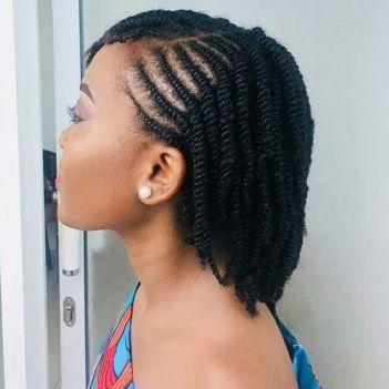 de belles twits comme coiffure protectrice sur cheveux crepus
