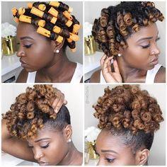 faites votre afro puff avec de magnifiques boucles