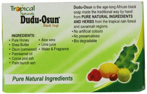 les ingrédients du savon noir dudu osun sont naturels, locaux et fabriqué localement