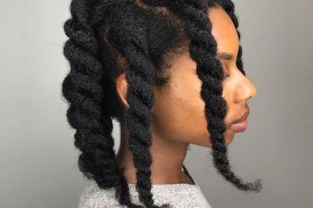 le traitement à l'huile chaude pour les cheveux crepus secs et cassants