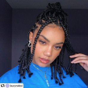 box braids pour cheveuux en transition