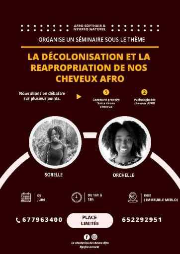 séminaire sur la décolonisation et la réapropriation de nos cheveux afro