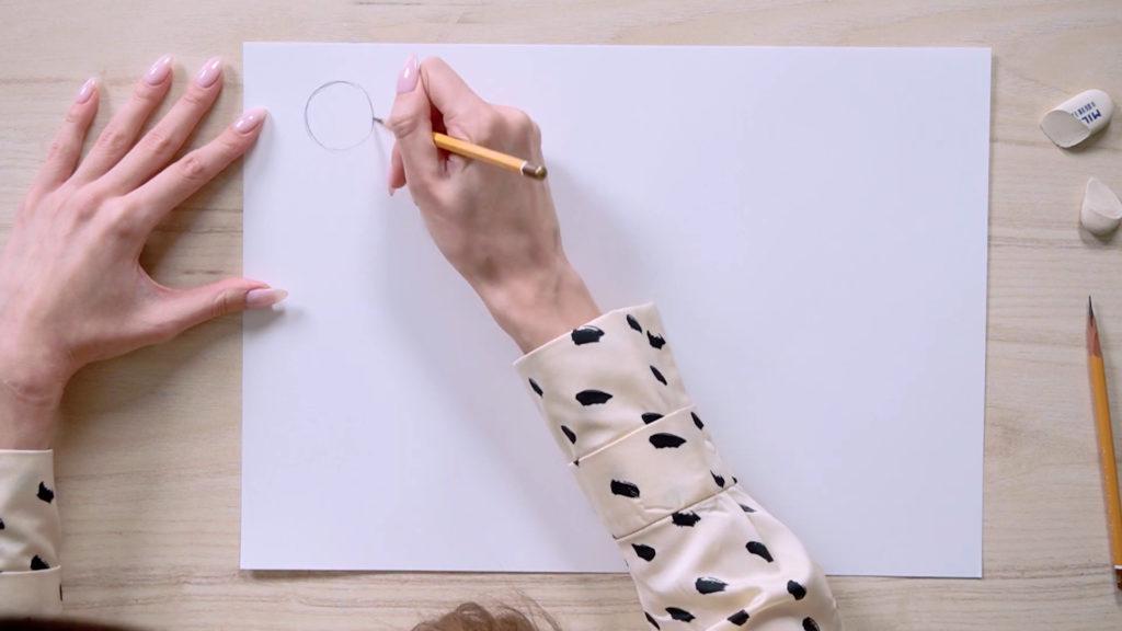 Jak wyciągnąć oczy ołówek fazowany - etap 1 - zdjęcie