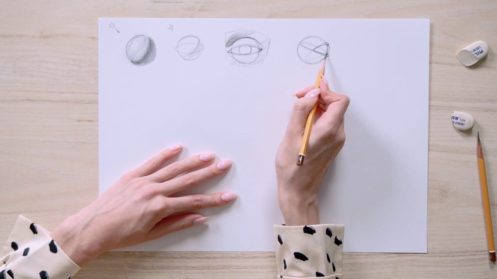 How to draw eyes a pencil Phased - Stage 2 - Photo
