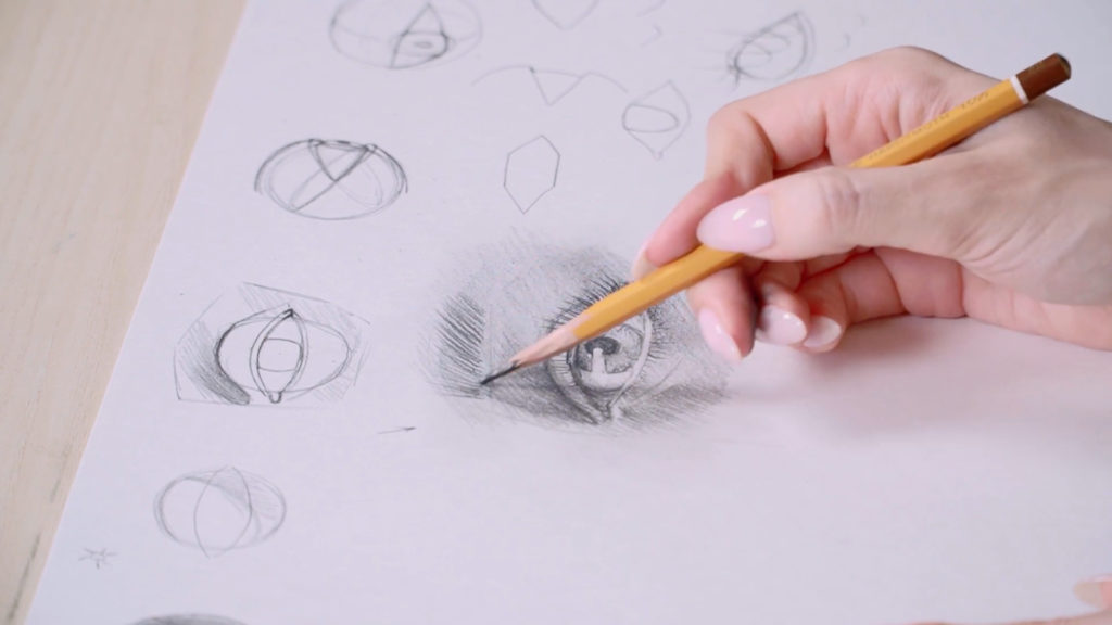 How to draw eyes a pencil stages - Stage 18 - Photo