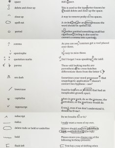 Handwritten copyediting marks also  guide to ny book editors rh nybookeditors