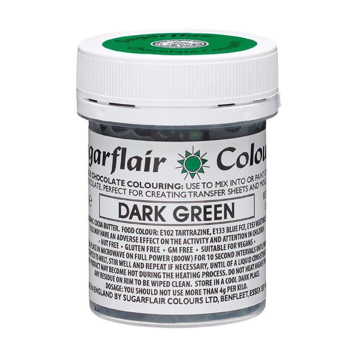 Sugarflair Chokoladefarve - Groen, 35g