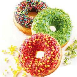 Silikomart Silikoneform til Donuts, oe7,5 cm 2,8 cm hoej