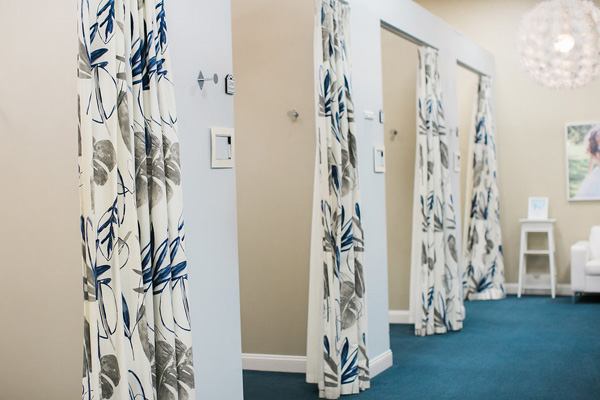 wedding gown dressing rooms
