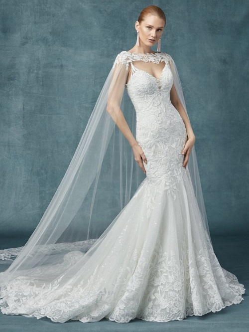 Nybg Raleigh Winter Wedding Gowns With Capes From Maggie Sottero