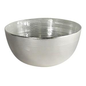 Skål Anelli silver/vit