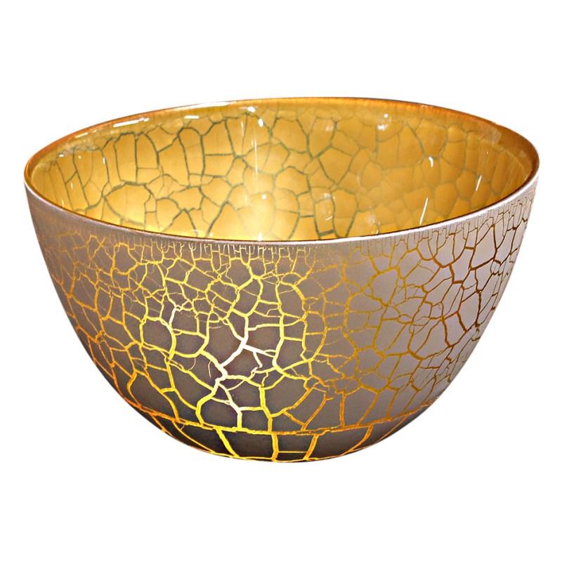 Croco Skål vit-guld