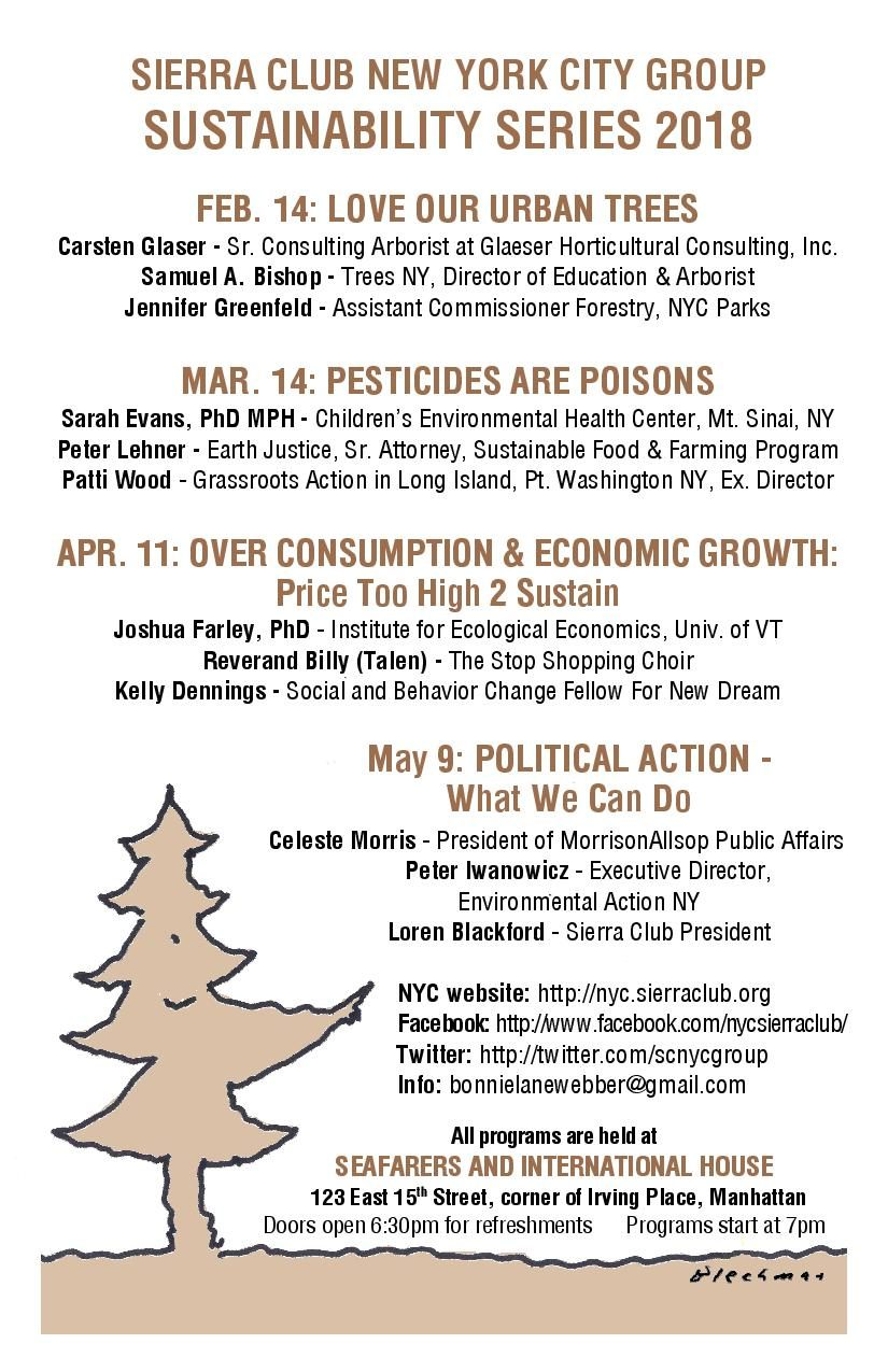 Sustainability Series 2018 - The Sierra Club of New York City
