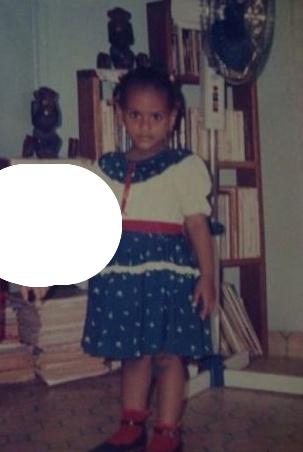 Juliet Ibrahim childhood photo