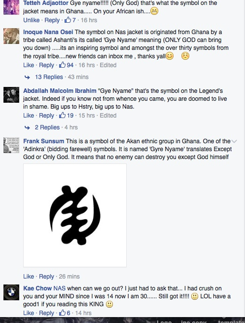 Rapper Nas Excites Ghanaians With Adinkra Symbol In His Hstry