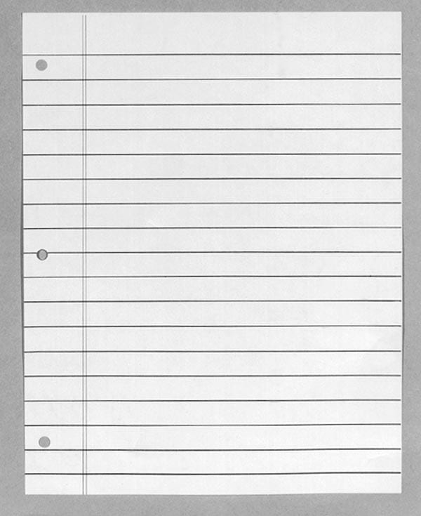 bold line notebook paper