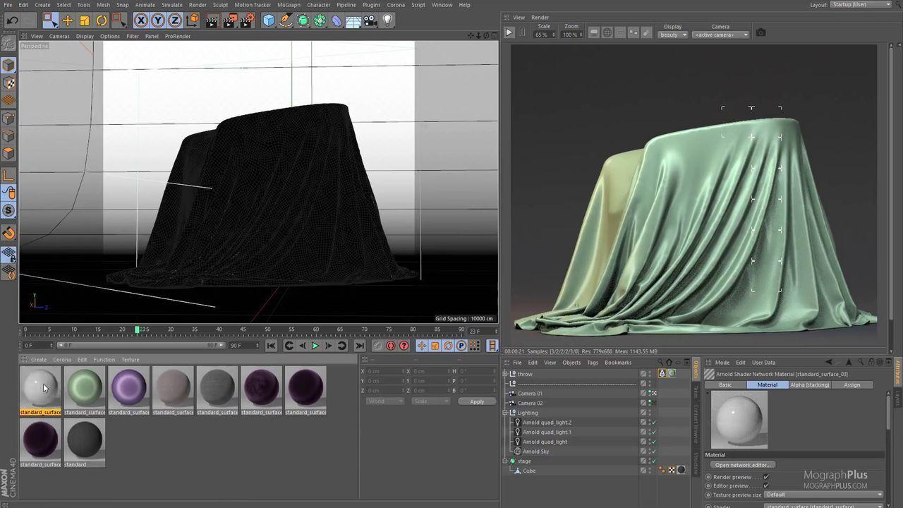 Arnold For Cinema 4d - How To Create Silk, Cotton, Velvet