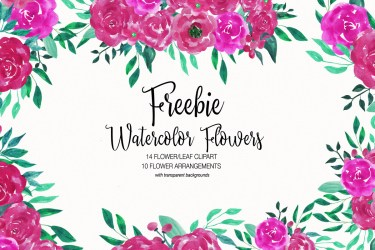 Free Watercolor Flower Clipart Collection ~ Creativetacos