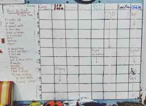 sample daily schedule board