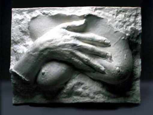 """George Segal's work """"Hand Over Breast"""" comes to mind when spending time with Myrrh essential oil."""