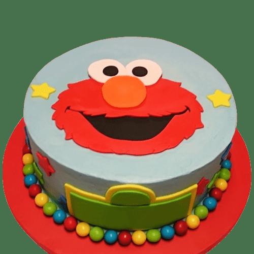 Elmo Cake Sesame Street Themed Birthday Party