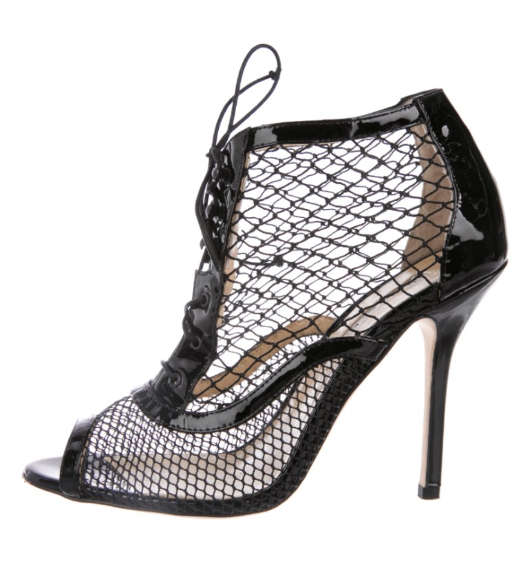mesh caged oscar de la renta heels on Mistress Blunt's foot fetish wishlist