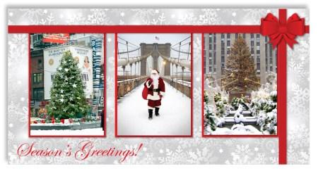Christmas in New York - Money Gift Card Holder Set of 6