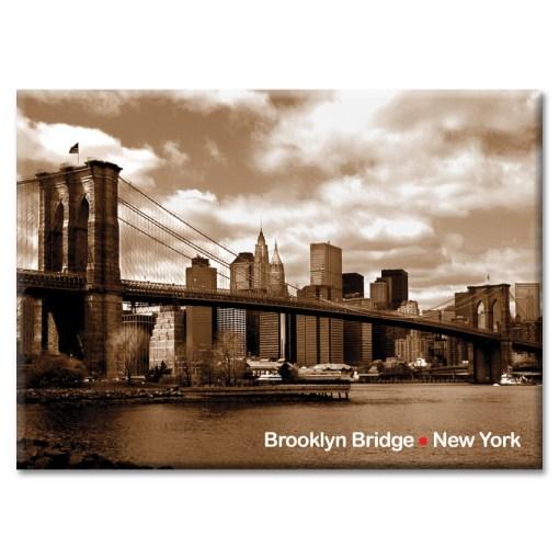 Brooklyn Bridge Panorama New York Photo Magnet
