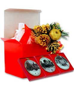 Central Park Winter Christmas Ornaments Gift Set