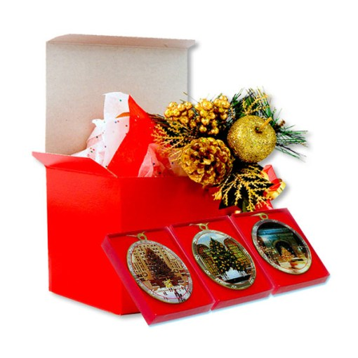 New York Christmas Trees Ornaments Gift Set