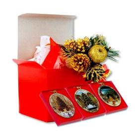 New York Christmas Trees Ornaments Gift Set