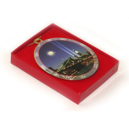 WTC Memorial Lights New York Christmas Ornament in a Gift Box