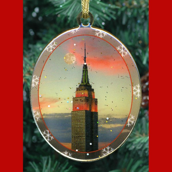 Empire State Building Christmas Ornament