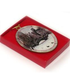 Love Bridge Central Park New York Christmas Ornament in a Gift Box