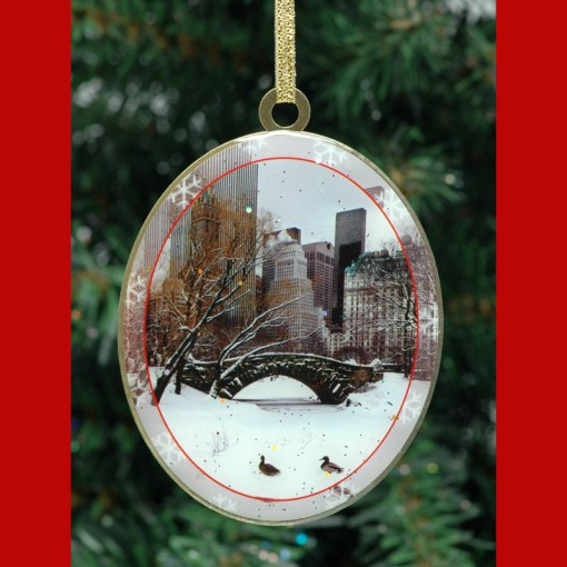 Love Bridge Central Park New York Christmas Ornament from NY Christmas Gifts
