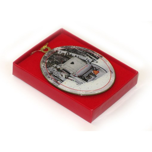 White Carriage Central Park New York Christmas Ornament in a Gift Box