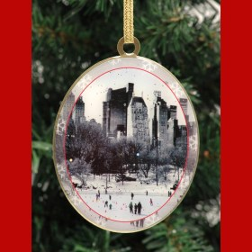 Wollman Rink Central Park New York Christmas Ornament from NY Christmas Gifts