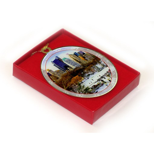 Wollman Rink Central Park New York Christmas Ornament in a Gift Box