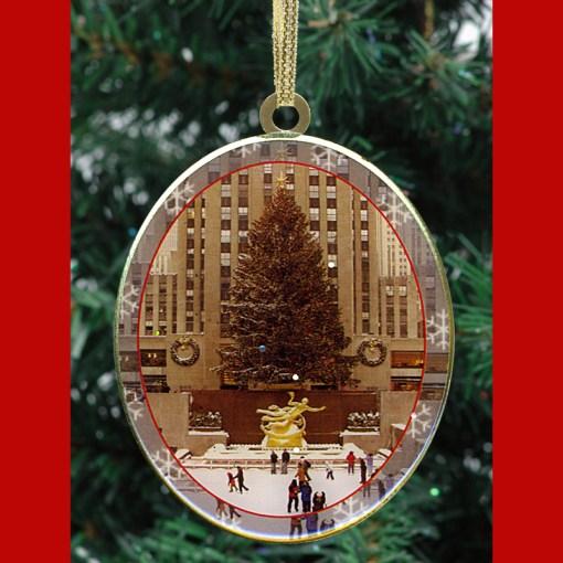 Rockefeller Center Skating Rink New York Christmas Ornament from NY Christma Gifts